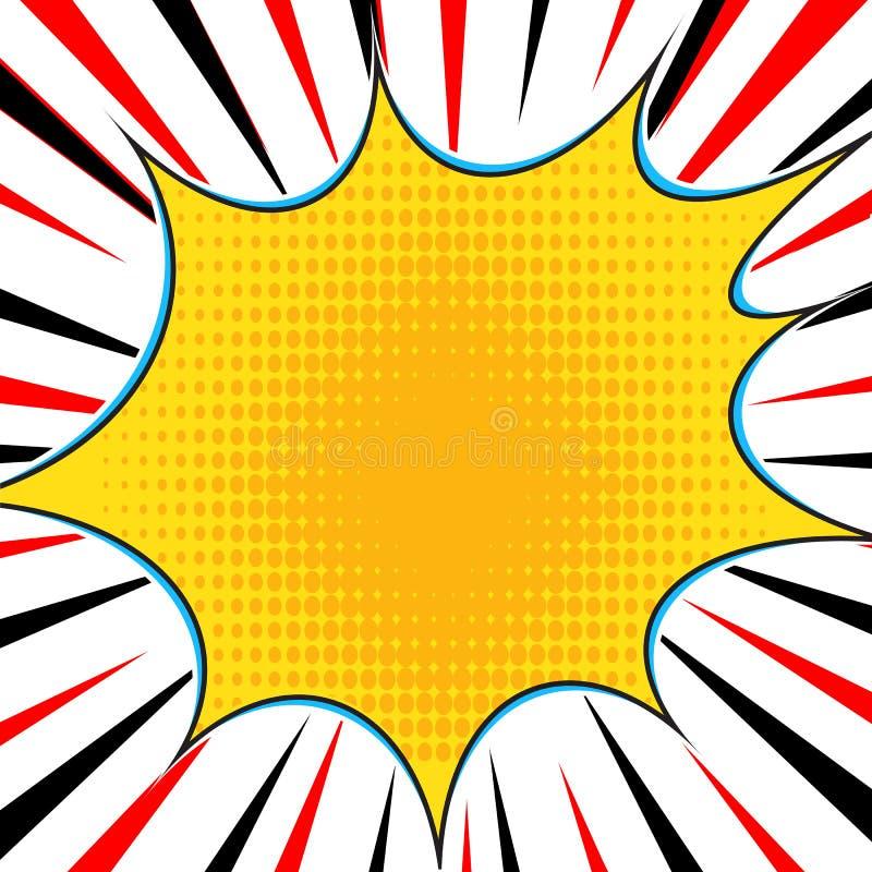 O radial do estilo do pop art do super-herói da explosão da banda desenhada alinha o fundo Manga ou quadro da velocidade do anime ilustração stock