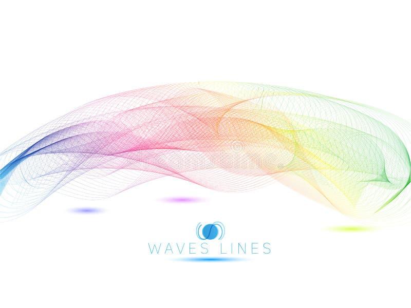 o raibow acena a linha colorida ilustração abstrata brilhante v das ondas claras do teste padrão ilustração royalty free