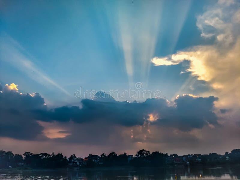 O raio de sol fotografia de stock