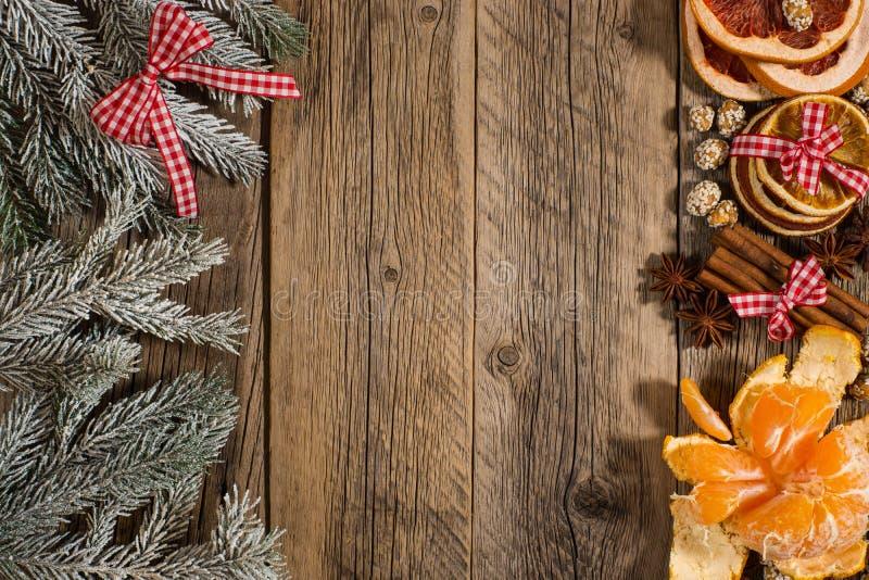 O ramo comeu com o mandarino, laranja, canela, amendoins, toranja imagens de stock royalty free