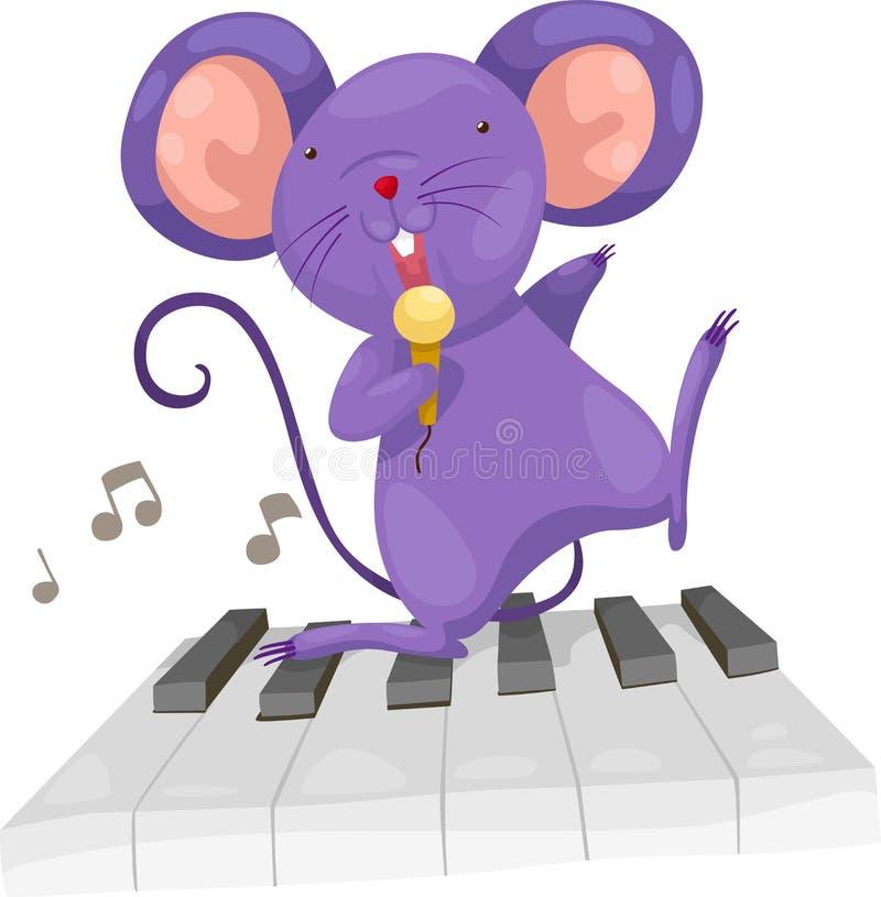 O rato canta o vetor ilustração royalty free