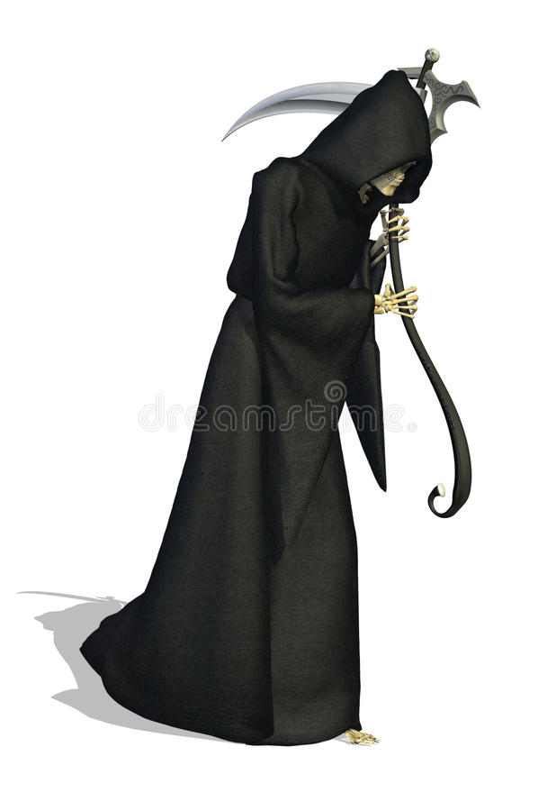 O Reaper desagradável - pressagio da morte ilustração stock