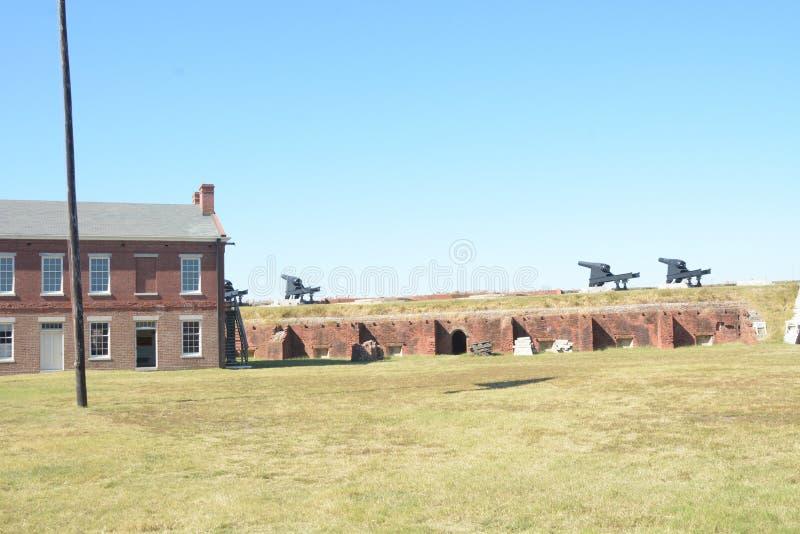 O rebitamento do forte foi construído como parte do terceiro sistema de defesa do seacoast concebido pelo Estados Unidos foto de stock royalty free