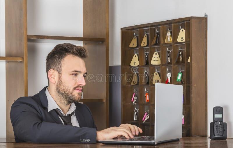 O recepcionista foto de stock