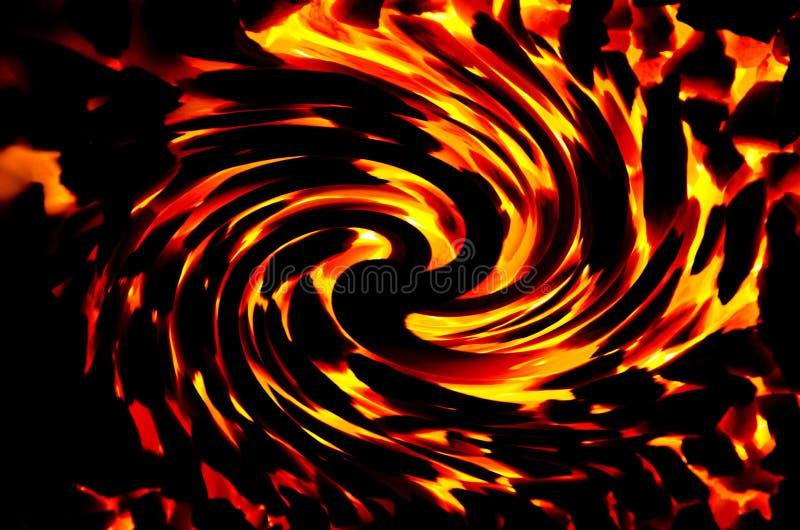 O recurso gráfico consiste queimar o carvão com um efeito de torção ilustração do vetor