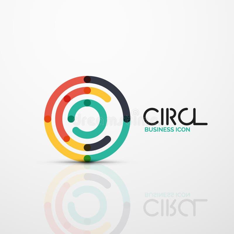 O redemoinho abstrato alinha o símbolo, ícone do logotipo do círculo ilustração stock