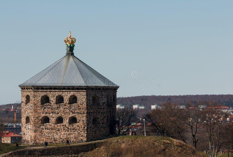 O reduto Skansen Kronan em Gothenburg, Suécia imagens de stock royalty free