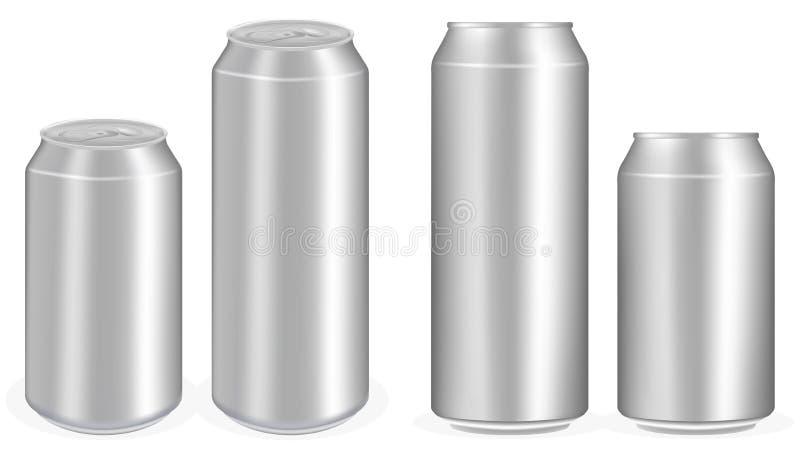 O refresco de alumínio enlata o vetor ilustração stock