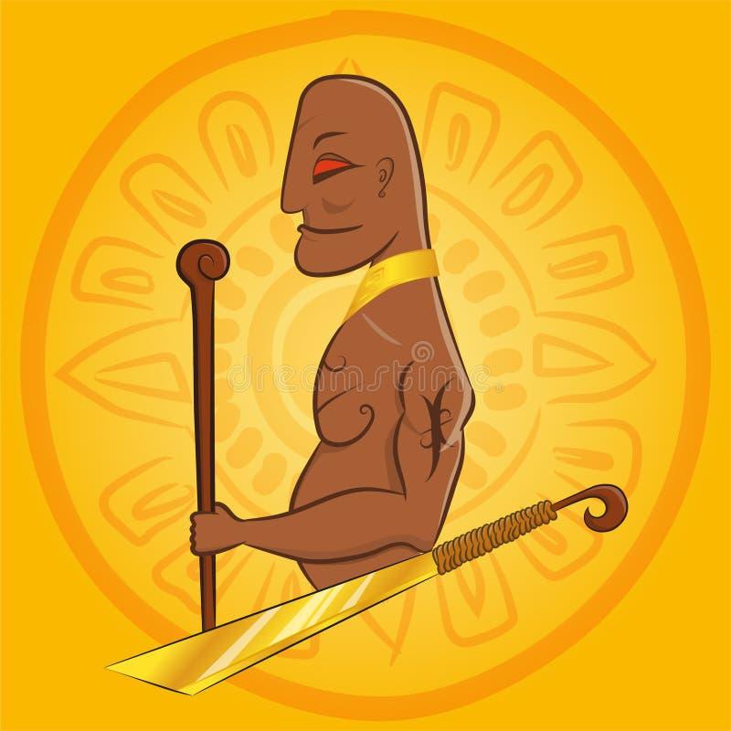 O rei principal grande do maya ilustração do vetor