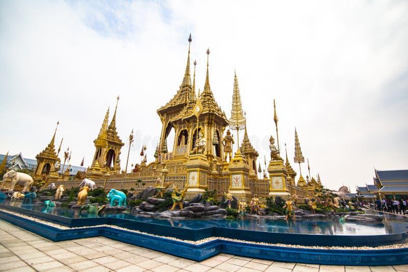 O rei real Rama da pira funerária fúnebre a 9a de Tailândia imagens de stock