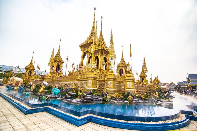 O rei real Rama da pira funerária fúnebre a 9a de Tailândia foto de stock