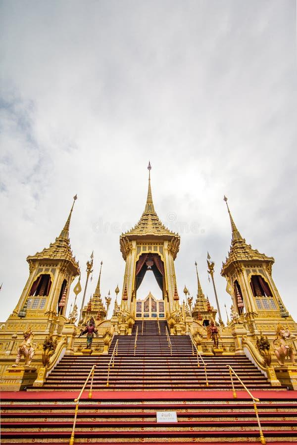 O rei real Rama da pira funerária fúnebre a 9a de Tailândia imagens de stock royalty free