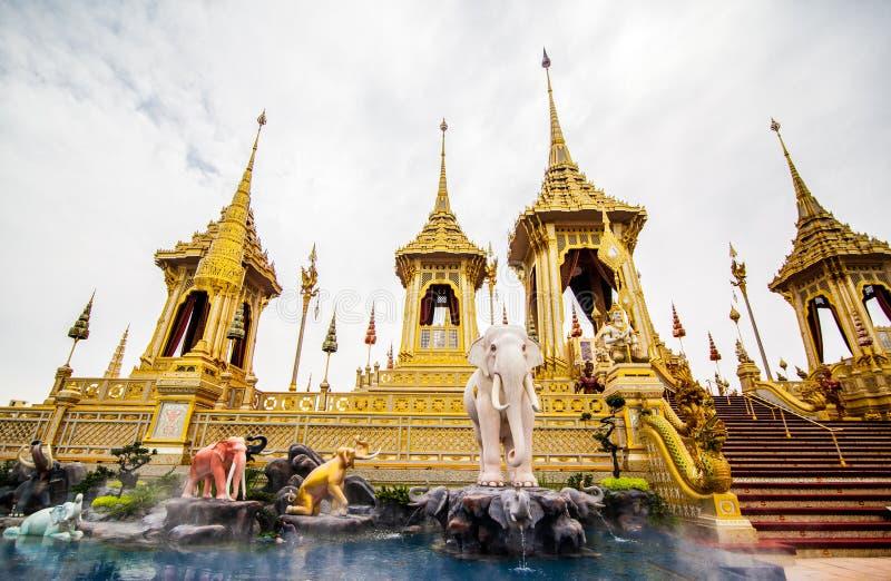 O rei real Rama da pira funerária fúnebre a 9a de Tailândia fotografia de stock royalty free