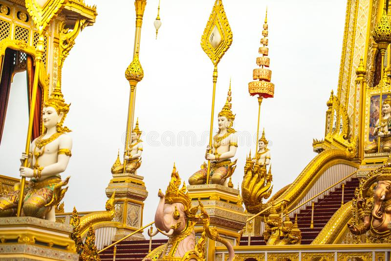 O rei real Rama da pira funerária fúnebre a 9a de Tailândia foto de stock royalty free