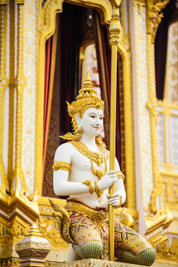 O rei real Rama da pira funerária fúnebre a 9a de Tailândia fotografia de stock