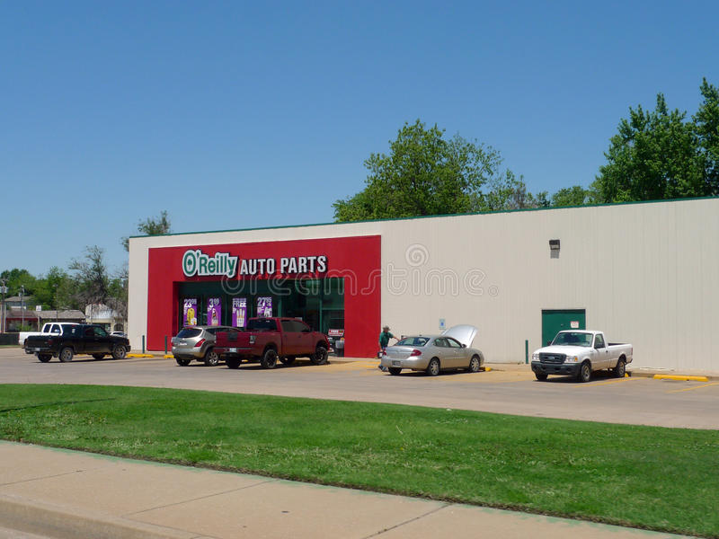 O Reilly Auto Parts Store Under Cloud Blue Sky Editorial Photo