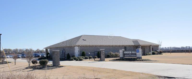 O reino Salão do ` s do Jeová testemunha Memphis ocidental, Arkansas fotos de stock royalty free