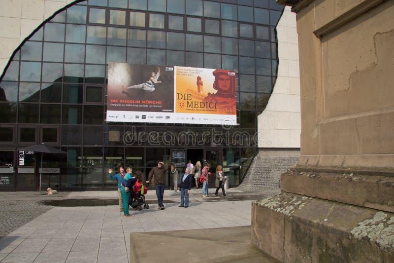 O Reiss-Engelhorn-museu em Mannheim Alemanha imagens de stock royalty free