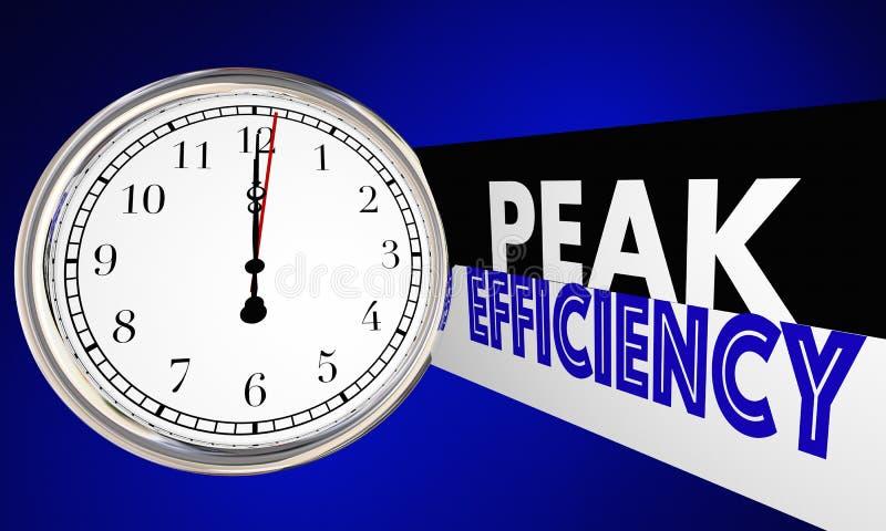 O relógio de ponto máximo da eficiência melhora a produtividade ilustração stock