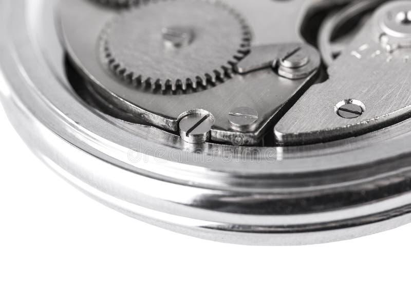 O relógio mecânico velho aberto fotos de stock royalty free