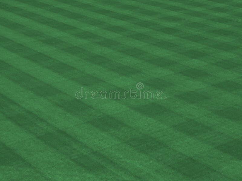 O relvado da liga principal com sega linhas fotos de stock