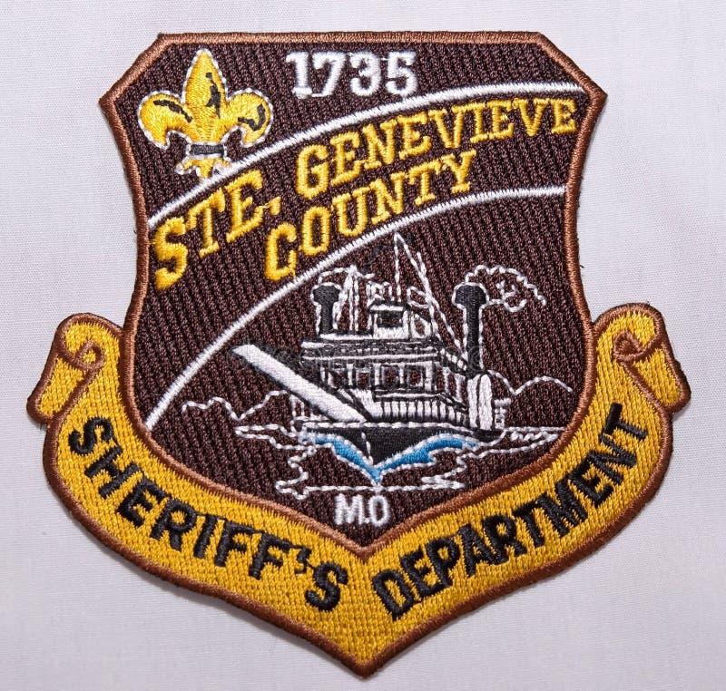 O remendo de ombro do Ste Genevieve Sheriff Department em Missouri imagem de stock