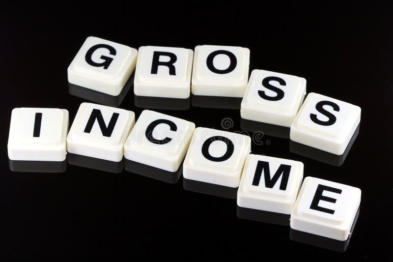 O rendimento bruto das palavras - um termo usado para o negócio na finança e na troca do mercado de valores de ação foto de stock