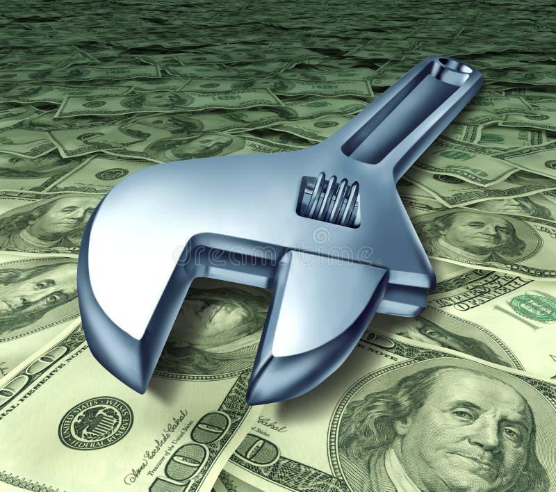 O reparo das ferramentas custa taxas de serviço técnicas da ajuda olá! ilustração do vetor