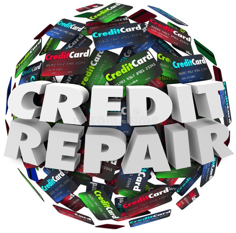O reparo do crédito melhora o dinheiro do empréstimo da capacidade da avaliação da contagem do aumento ilustração stock