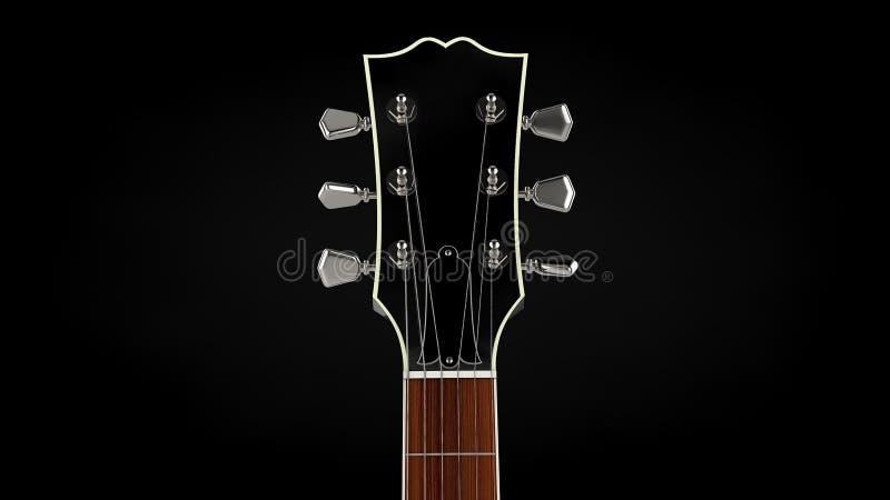 O res alto 3d rendeu o detalhe genérico da guitarra ilustração do vetor