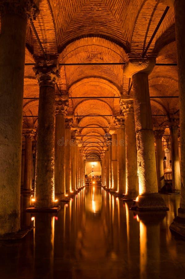 O reservatório da basílica em Instanbul imagem de stock royalty free