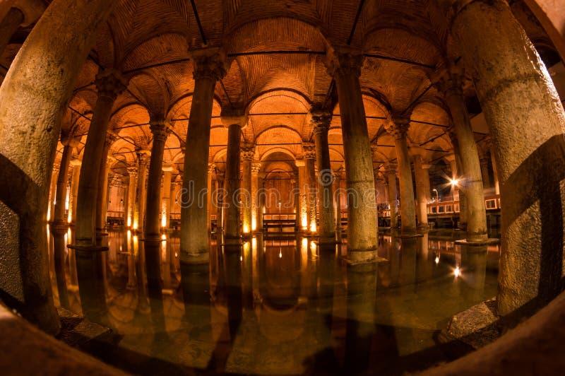 O reservatório da basílica em Instanbul imagens de stock