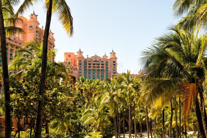 O resort da ilha do paraíso de Atlantis, situado no Bahamas foto de stock