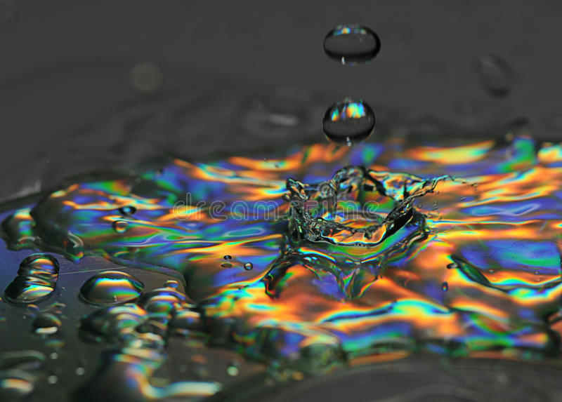 O respingo da água é congelado foto de stock royalty free