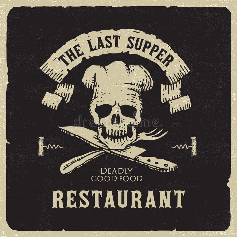 O restaurante da última ceia ilustração royalty free