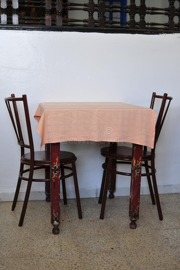 O restaurante do Tunisian imagens de stock
