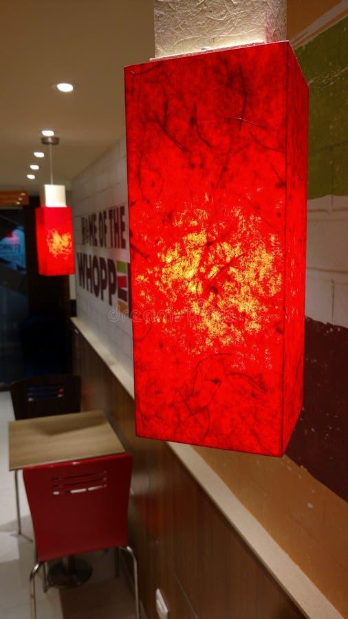 O restaurante vermelho fotografia de stock
