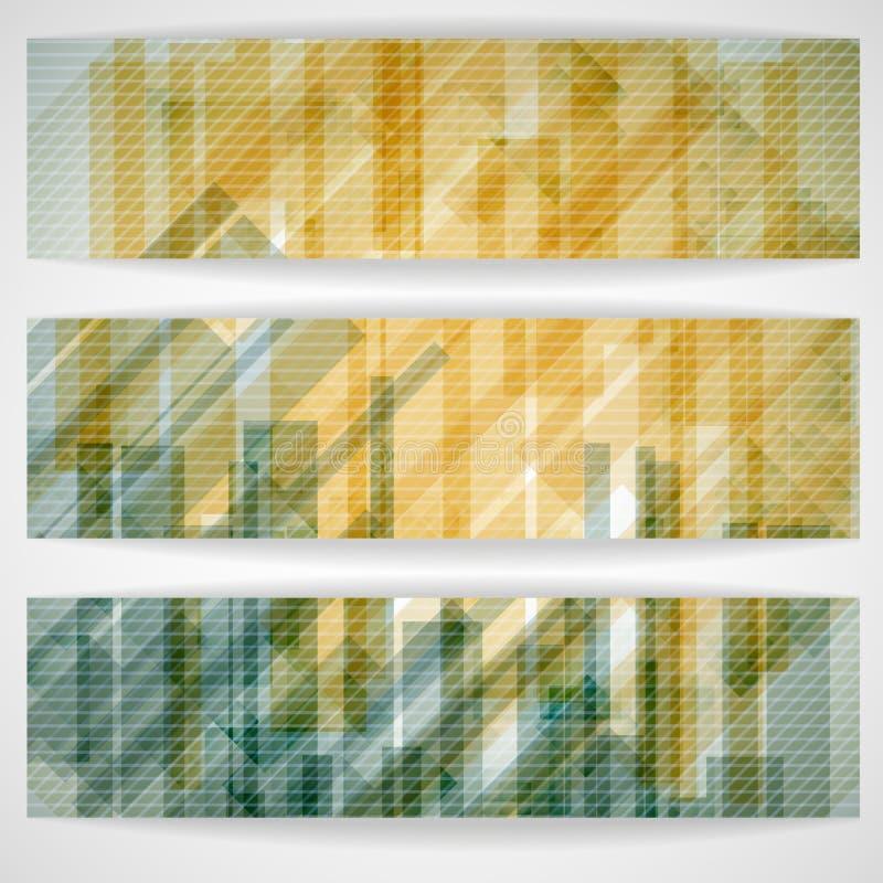 O retângulo amarelo abstrato dá forma à bandeira. ilustração royalty free
