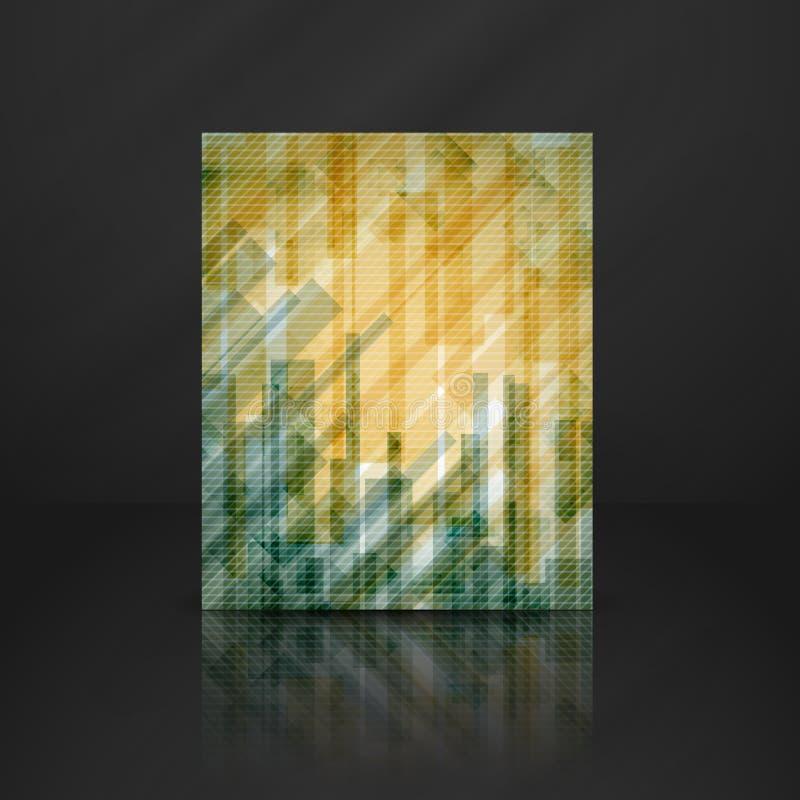 O retângulo amarelo abstrato dá forma ao fundo. ilustração stock