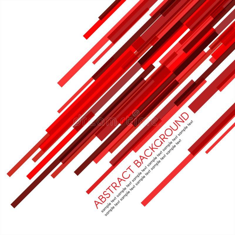 O retângulo vermelho barra obliquamente o fundo abstrato do vetor ilustração stock