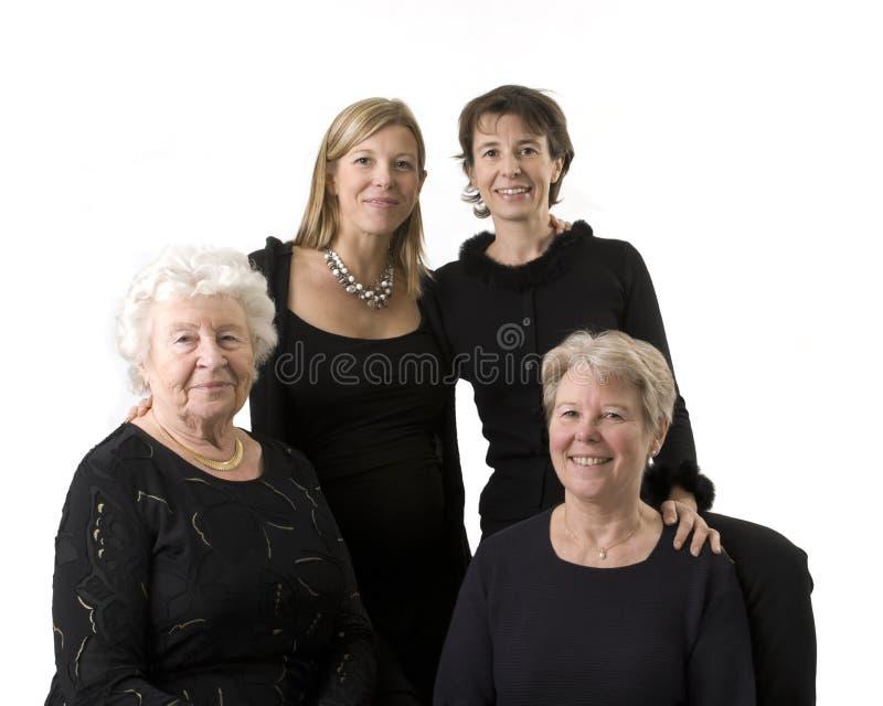O retrato da família compor de 4 mulheres fotografia de stock royalty free