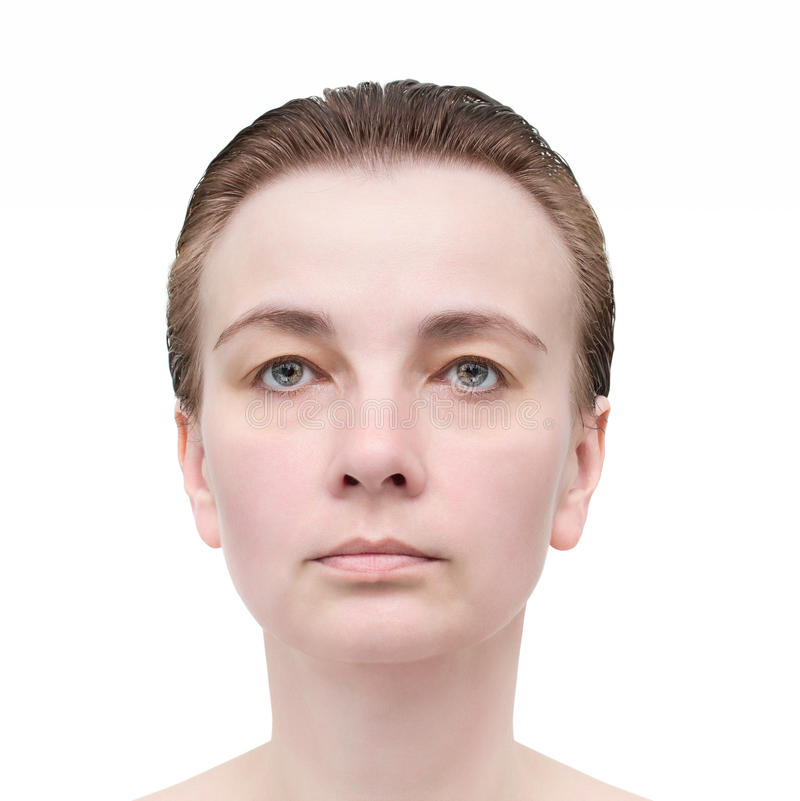 O retrato da mulher. Cuidados com a pele. imagem de stock royalty free