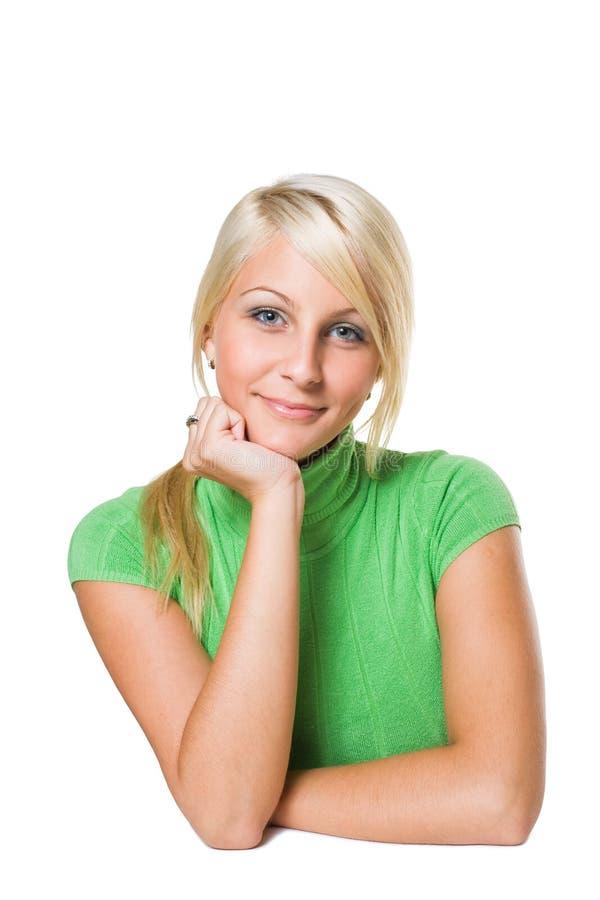 O retrato de jovens bonitos coube louro. foto de stock royalty free