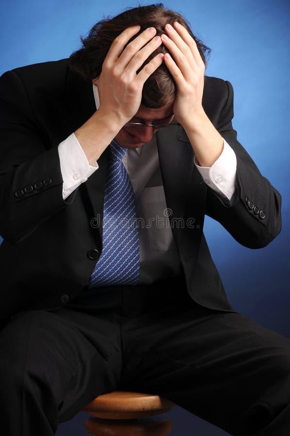O retrato do homem de negócios impossível novo fotos de stock royalty free