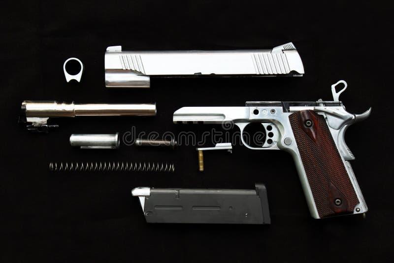 O revólver, separa desmontado imagem de stock royalty free