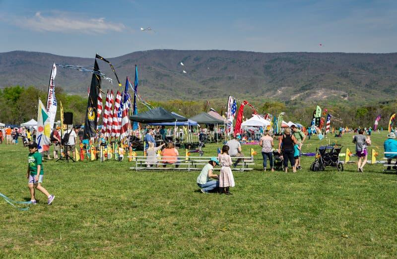 19o Ridge Kite Festival azul anual fotografia de stock royalty free