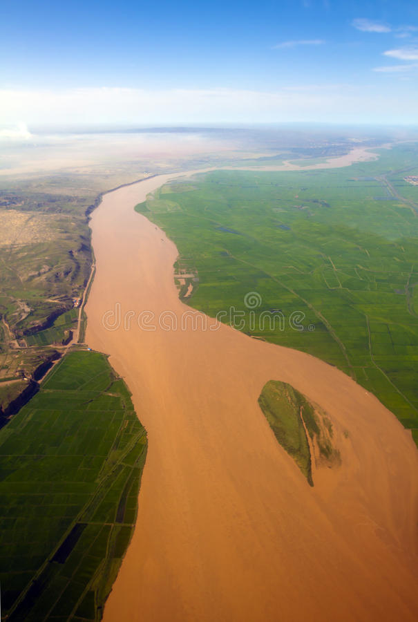 O Rio Amarelo da porcelana fotos de stock royalty free