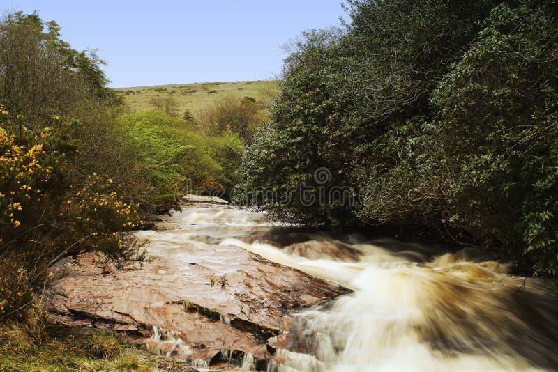 O rio Avon, igualmente conhecido como o rio Aune, é um rio no condado de Devon foto de stock royalty free