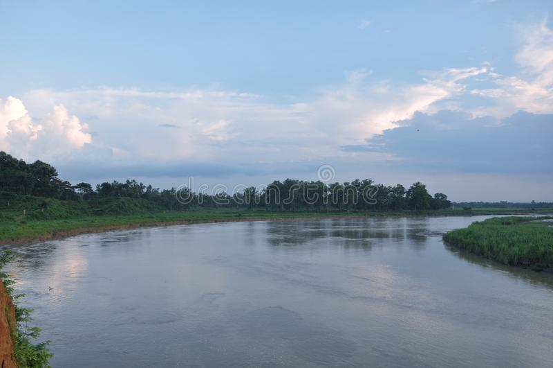 O rio bonito de bangladesh fotos de stock royalty free