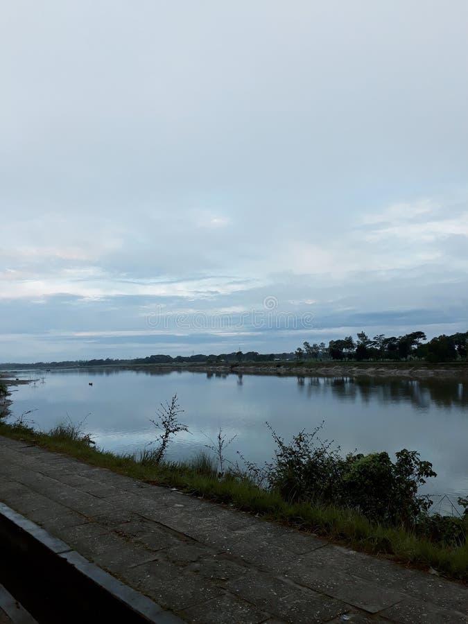 O Rio Brahmaputra imagens de stock